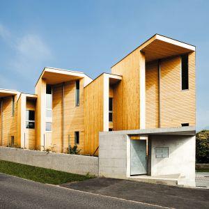 Drewno nadaje się do wykończenie elewacji nie tylko domów o klasycznych bryłach. Fot. DLH