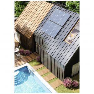 Hybrydowy panel słoneczny I-PVT 315W jest połączeniem kolektora płaskiego, przetwarzającego energię słoneczną w cieplną, z modułem fotowoltaicznym, przetwarzającym promieniowanie słoneczne w prąd elektryczny. Fot. Immergas