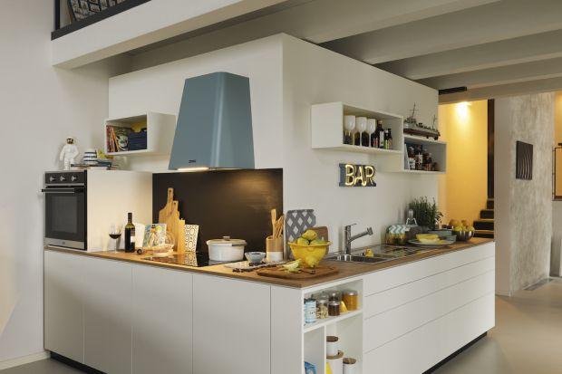 Pastelowe akcenty w kuchni - dekoracyjne okapy w klimacie retro