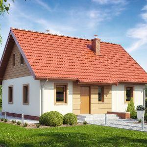 Zwarta bryła budynku, pokryta dwuspadowym dachem zawsze korzystnie wpływa na koszt budowy oraz późniejszą eksploatację. Projekt: TK88. Fot. Architeka