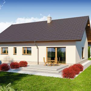 W przypadku małych domów ważne jest jej usytuowanie względem stron świata. Optymalnie położona działka ma wjazd od północy. Projekt Hoste. Fot. Domena