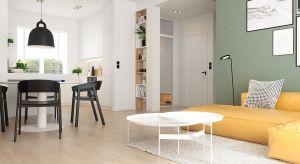 O sukcesie tego wnętrza decyduje prostota. Połączenie nowoczesnych mebli i czystych pastelowych kolorów dało efekt w postaci aranżacji stonowanej, ale niepozbawionej energii.