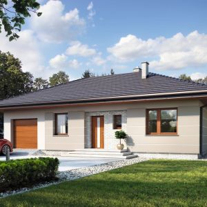 Jedną z większych zalet domów posiadających dwie kondygnacje, jest możliwość ich wykańczania etapami, w zależności od możliwości finansowych lub potrzeb powiększającej się rodziny. Projekt: Galia. Fot. Archetyp