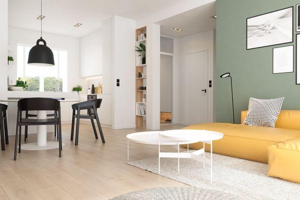 Nowoczesny salon - przytulne wnętrze w pastelowych barwach