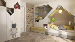 Wykonane według indywidualnego projektu zabudowy w pokojach dzieci są nie tylko estetyczne, ale również bardzo praktyczne. Projekt i wizualizacje: 3DPROJEKT architektura