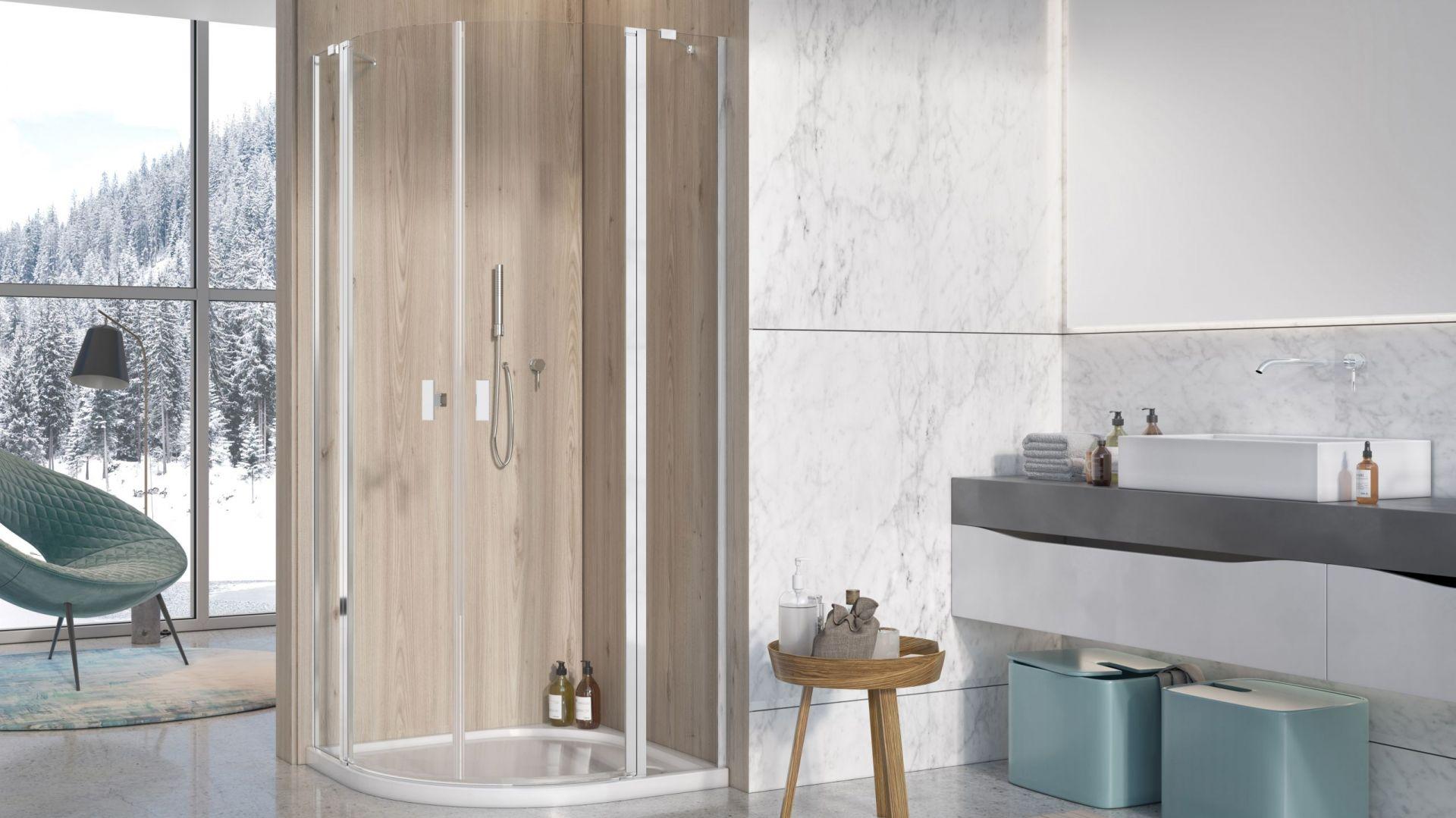 Kabina prysznicowa idealna do małej łazienki: model Nes PDD II 90x90 cm. Fot. Radaway