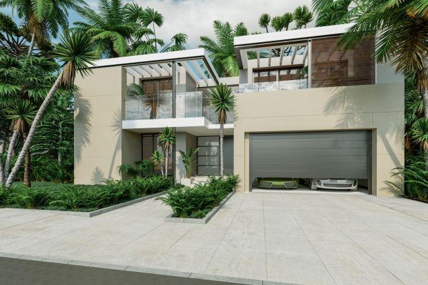 Dom z tarasem - nowoczesne materiały nie tylko na elewacje