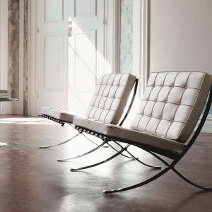 Barcelona Chair Knoll, projekt: Mies van der Rohe, 1929.  Fot. Knoll /Aqina