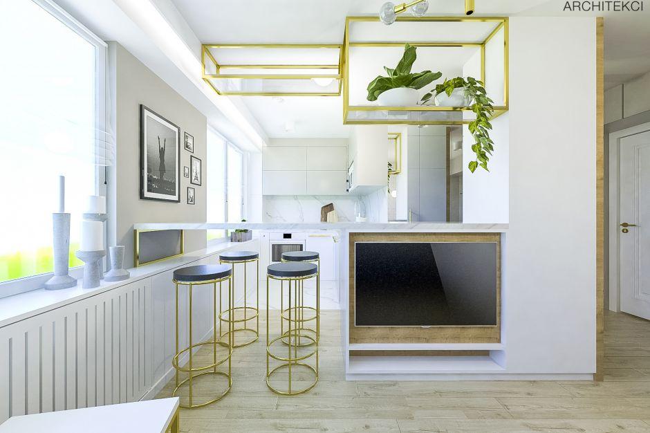Mieszkanie w stylu modern classic Gold