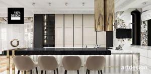 Luksusowa kuchnia. Projekt i wizualizacje: ARTDESIGN biuro projektowe