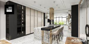 Stylizowane wnętrze kuchni. Projekt i wizualizacje: ARTDESIGN biuro projektowe