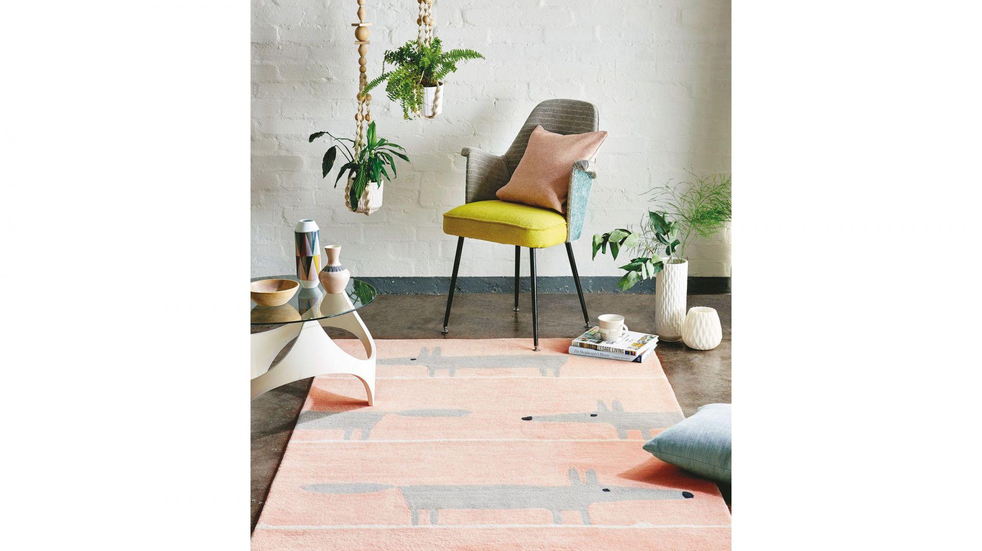 Różowy Dywan Dziecięcy - Mr Fox Blush 25302/carpets&More. Produkt zgłoszony do onkursu Dobry Design 2020.