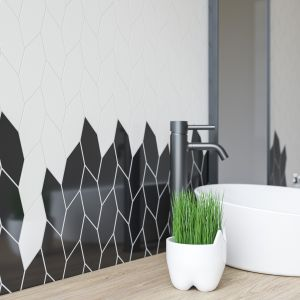 Uniwersalna mozaika Torton. Paradyż bianco nero. Fot. Ceramika Paradyż