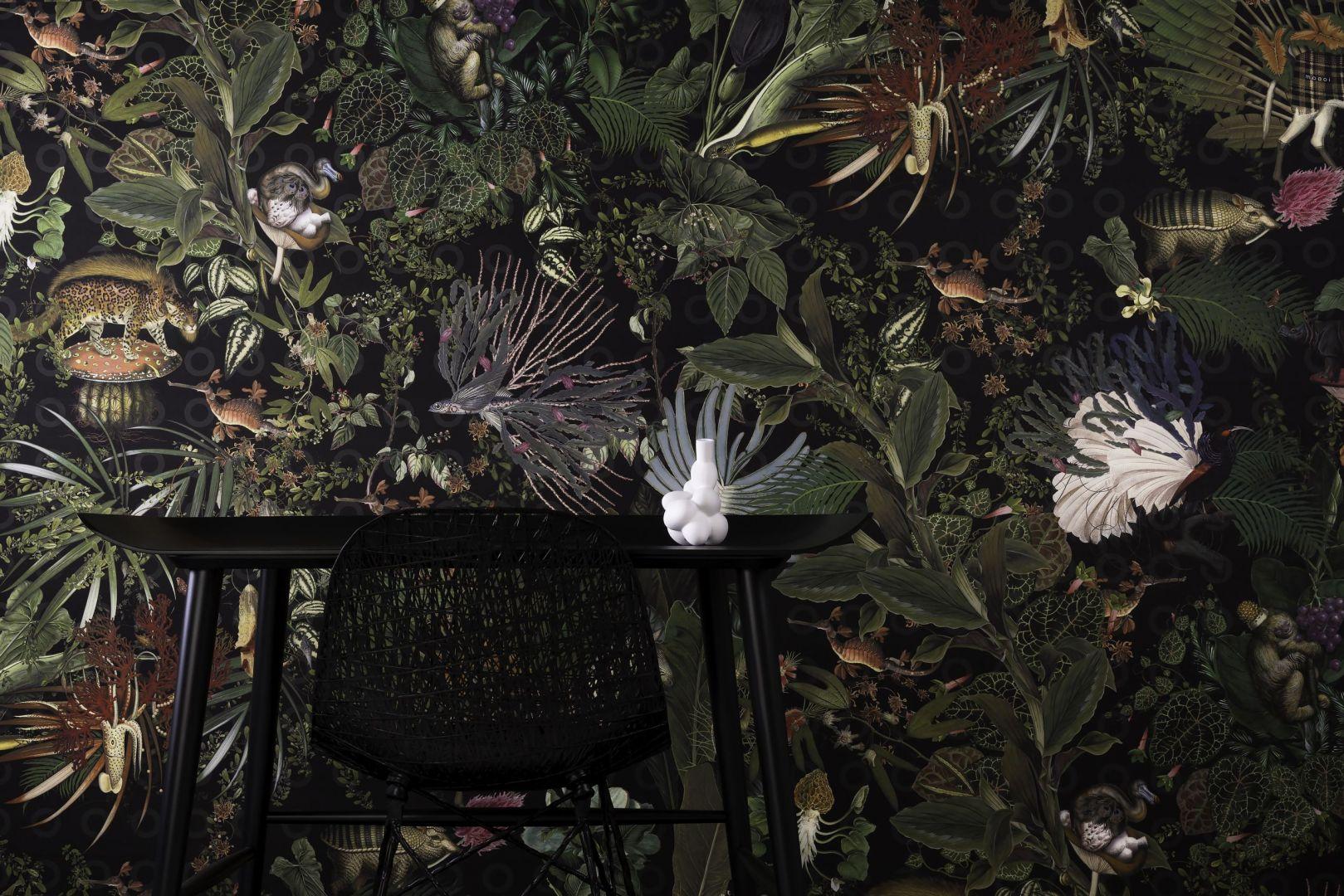 Extinct animals, czyli menażeria wymarłych zwierząt. Fot. Moooi Wallcovering / tapetujemy.pl