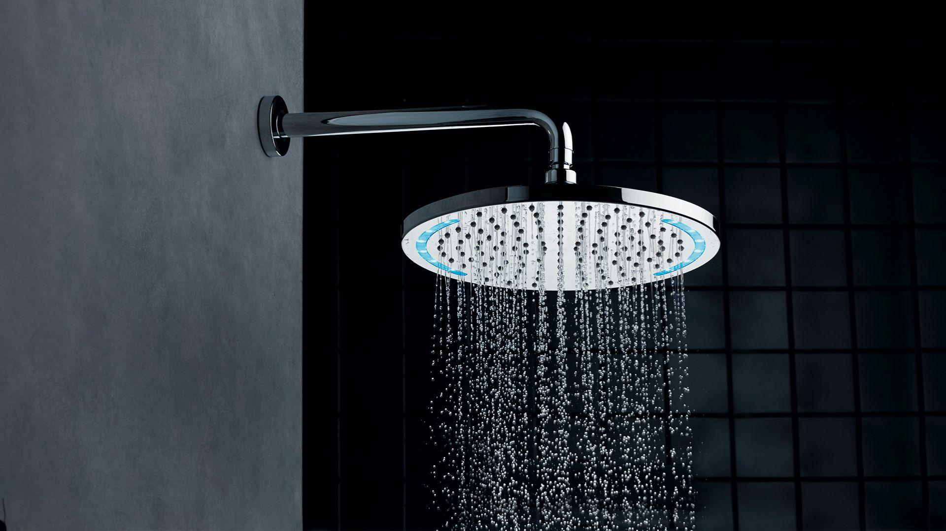 Głowica prysznicowa z funkcją LED, Nikles Technolight. Produkt zgłoszony do konkursu Dobry Design 2020.