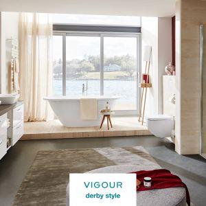 Całościowa aranżacja łazienki z VIGOUR derby