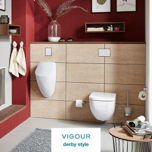 Całościowa aranżacja łazienki z VIGOUR derby. Produkt zgłoszony do konkursu Dobry Design 2020.