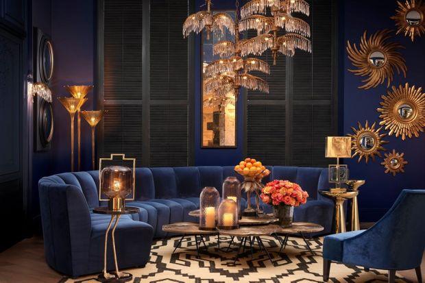 Duża ilość złota, motywy palm oraz geometryczne wzory – znane na przykład z słynnego mauretańskiego zespołu pałacowego w Grenadzie – pomogą stworzyć wnętrze z akcentami orientalnymi.