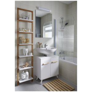 Kolekcja mebli łazienkowych GoodHome Ladoga oraz GoodHome Nantua. Fot. GoodHome/Castorama