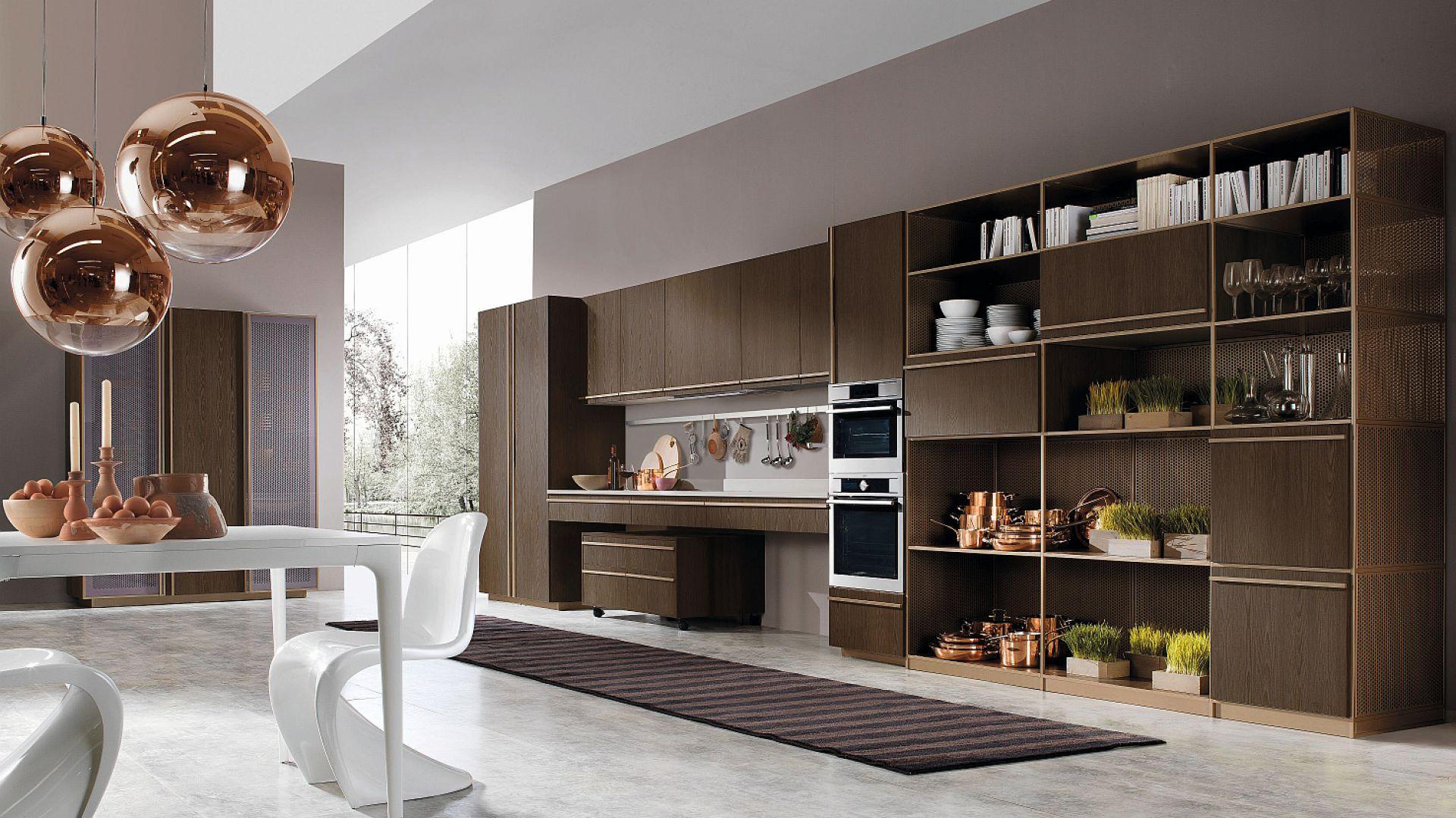BELUGA - elegancka i prosta kompozycja kuchenna, w której poszczególne elementy zainspirowane są niezbędną geometrią uwypuklającą wartość materiałów, kolorów i dekoracyjności. Fot. Rastelli