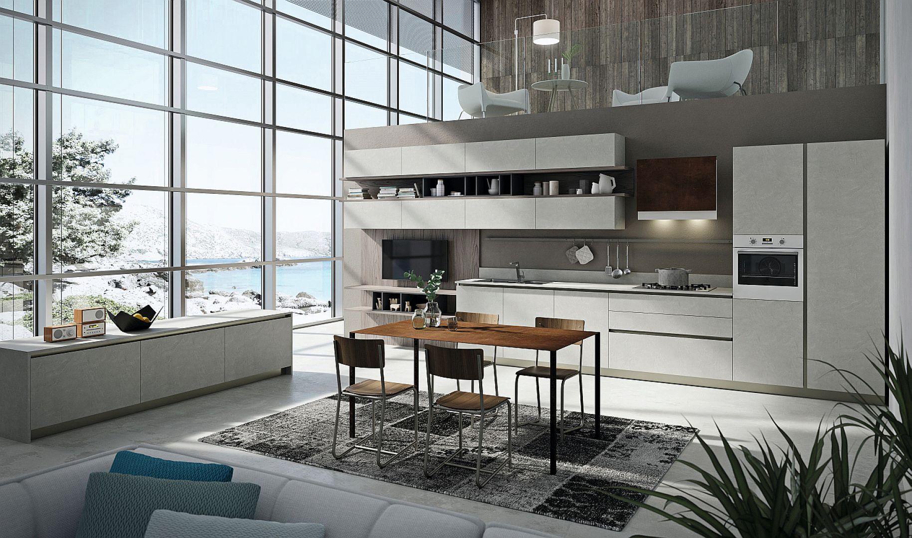 LAB13 - laboratorium kuchenne, które dzięki nowej modułowości mebli umożliwia zwiększenie ich pojemności o 20%, łącząc design z pięknem, jakością i wygodą. Fot. Aran Cucine