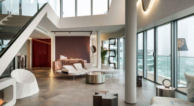 Dwupoziomowy Penthouse One-11 - zobacz wnętrza projektu Zahy Hadid!