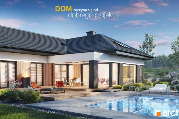 Reprezentacyjna, komfortowa parterówka. Zobacz projekt domu i wnętrza