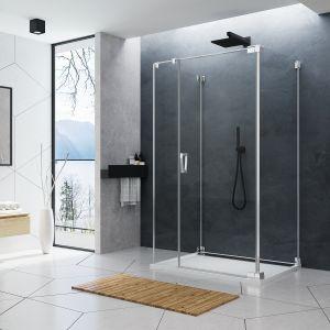 CADURA - nowa linia kabin prysznicowych łącząca w sobie wyszukany design i ergonomię detali, najwyższą jakość materiałów oraz nowe funkcjonalności. Na zdj. model CA31C+CAT2+CAT5 do U-montażu. Fot. SanSwiss