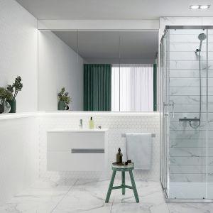 CAPITAL - parawany prysznicowe dedykowane do wnęk czy modnych stref typu walk-in. W wersji narożnej są modele do brodzików zaoblonych, prostokątnych czy kwadratowych i występują w wersjach skrzydłowych, jak i składanych. Fot. Roca