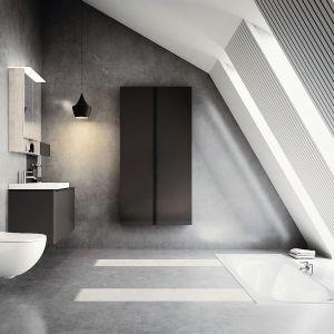 ACANTO - meble o ponadczasowym wzornictwie można ze sobą dowolnie łączyć i zestawiać. Szeroka paleta kolorystyczna imateriałowa oraz duży wybór umywalek i brył meblowych ułatwia dokładne dopasowanie wszystkich rozwiązań do projektu łazienki. Fot. Geberit