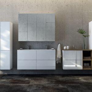 TORINO – meble modułowe o minimalistycznej formie oferowane w dwóch atrakcyjnych kolorach do wyboru - białym błyszczącym lakierze oraz dekorze buku truflowego. Fot. Ø NAS