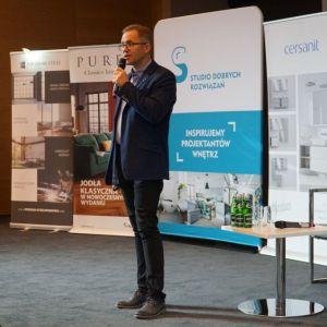 Robert Skomorowski, reprezentant firmy Purmo. Fot. SDR Katowice
