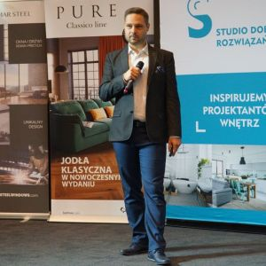 Piotr Wychowaniec, reprezentant firmy Cersanit. Fot. SDR Katowice