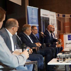 Dyskusja podsumowująca cykl prezentacji Łazienki Trendy 2019. Fot. SDR Katowice
