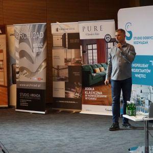 Piotr Buśko reprezentujący firmę WSC/Graphisoft. Fot. SDR Katowice