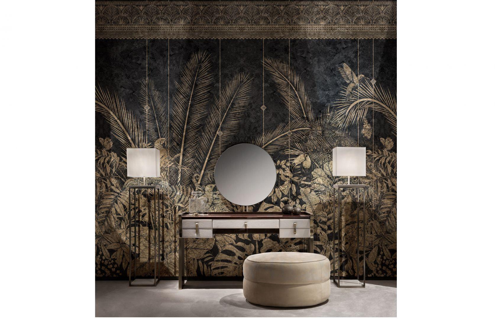 Fototapeta Tamputa z kolekcji Golden Wall łączącej inspiracje ze świata mody i sztuki. Fot. Inkiostro Bianco
