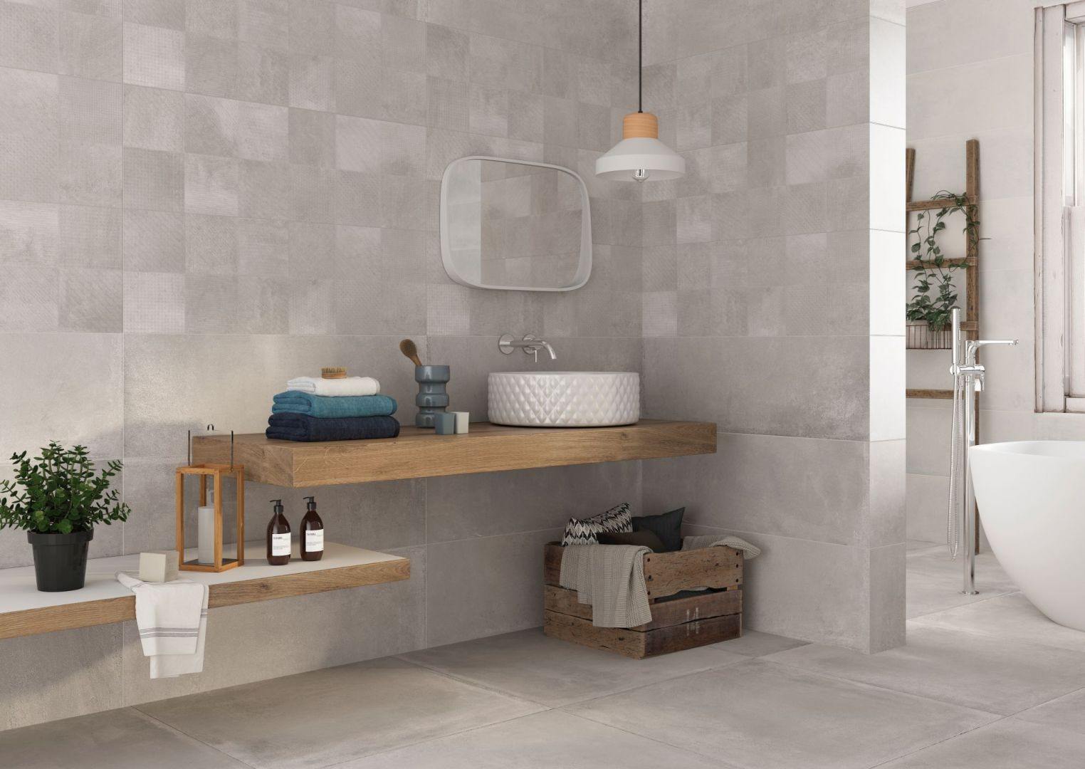 Nowoczesna łazienka. 30 pięknych kolekcji płytek ceramicznych. Fot. Halcon