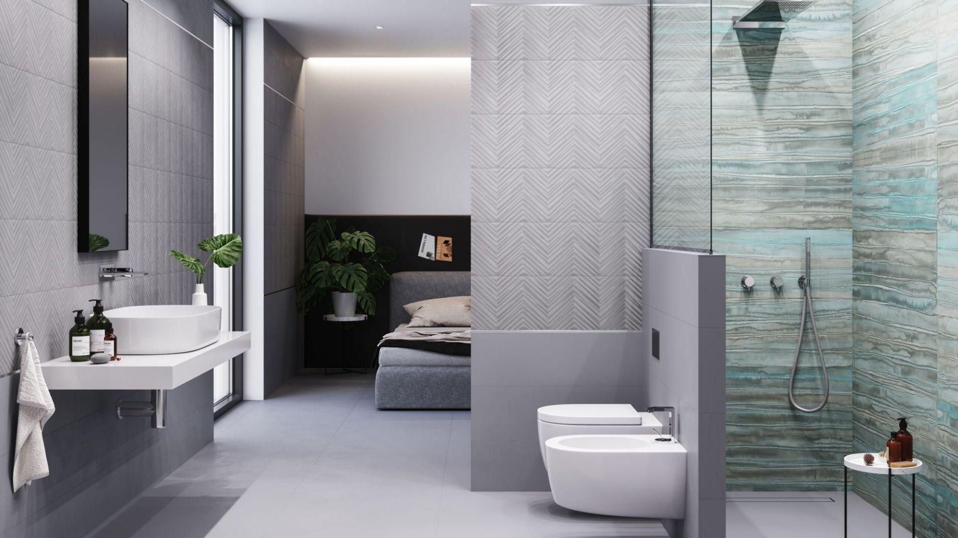 Nowoczesna łazienka. 30 pięknych kolekcji płytek ceramicznych. Fot. Studio Grey