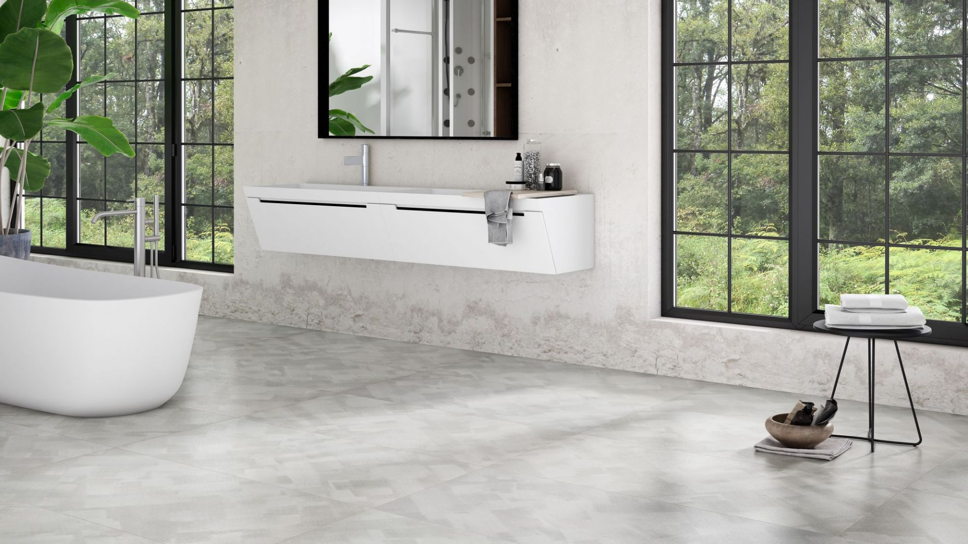 Nowoczesna łazienka. 30 pięknych kolekcji płytek ceramicznych. Producent Apavisa, kolekcja Aluminum.Fot. Apavisa
