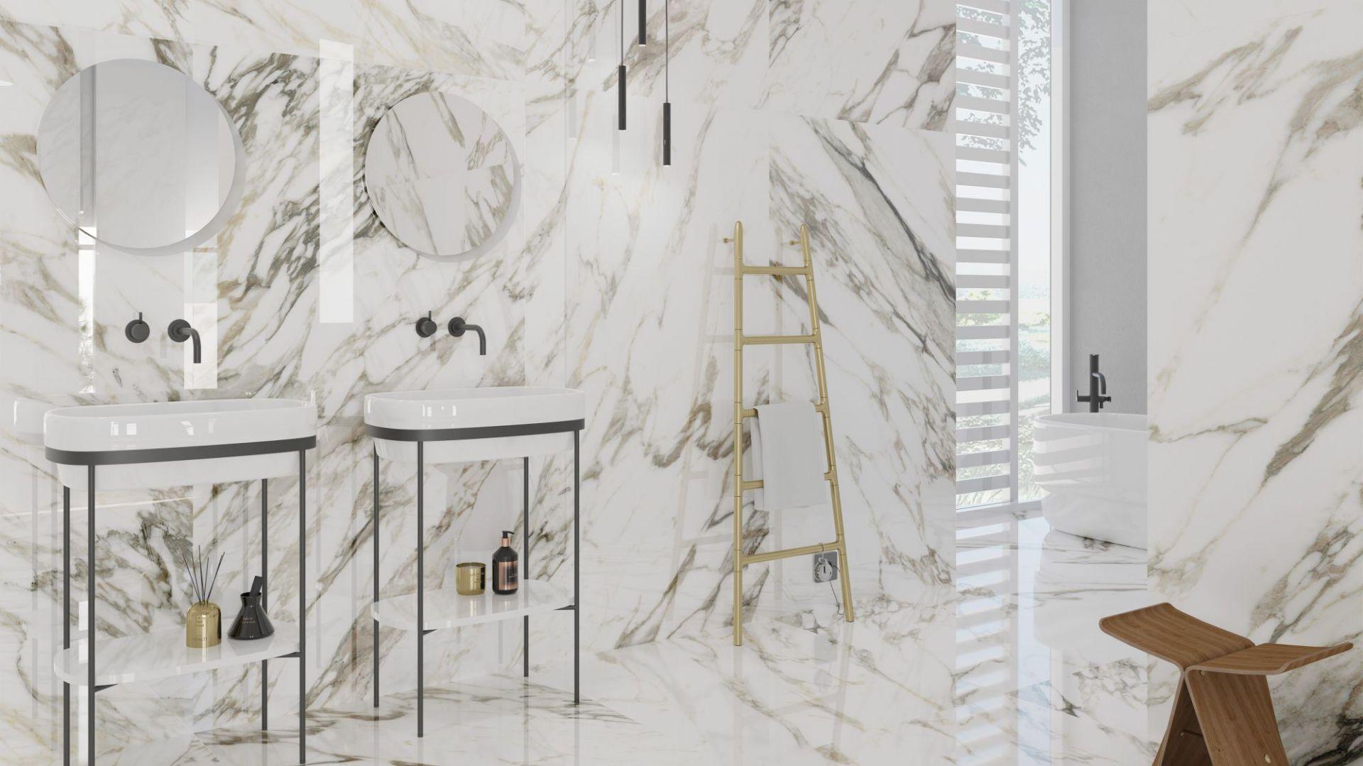 Nowoczesna łazienka. 30 pięknych kolekcji płytek ceramicznych. Producent Museum, kolekcja Macchiavecchia 4d. Fot. Museum