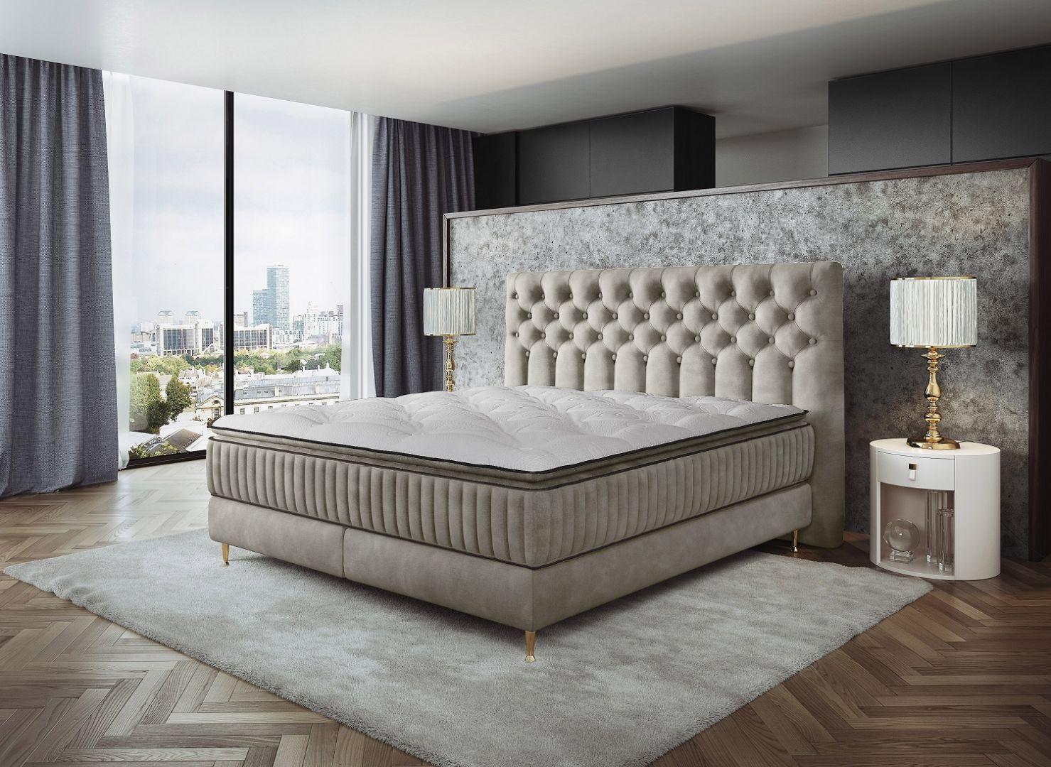 Łóżko kontynentalne Astoria marki Comforteo. Fot. Comforteo