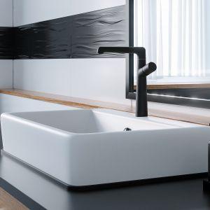 PRETTO – seria obejmuje aż 14 modeli, w tym baterie umywalkowe, dostępne w trzech wykończeniach, chromie czarnym macie i stalowym, co pozwala dopasować je do każdej łazienki. Fot. Laveo