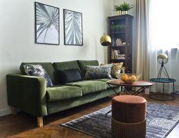 Mieszkanie miało być funkcjonalne iprzytulne. Niebyło mowy otypowym nowoczesnym czyskandynawskim stylu. Projekt: Magdalena Miśkiewicz. Zdjęcia: Anna Powałowska