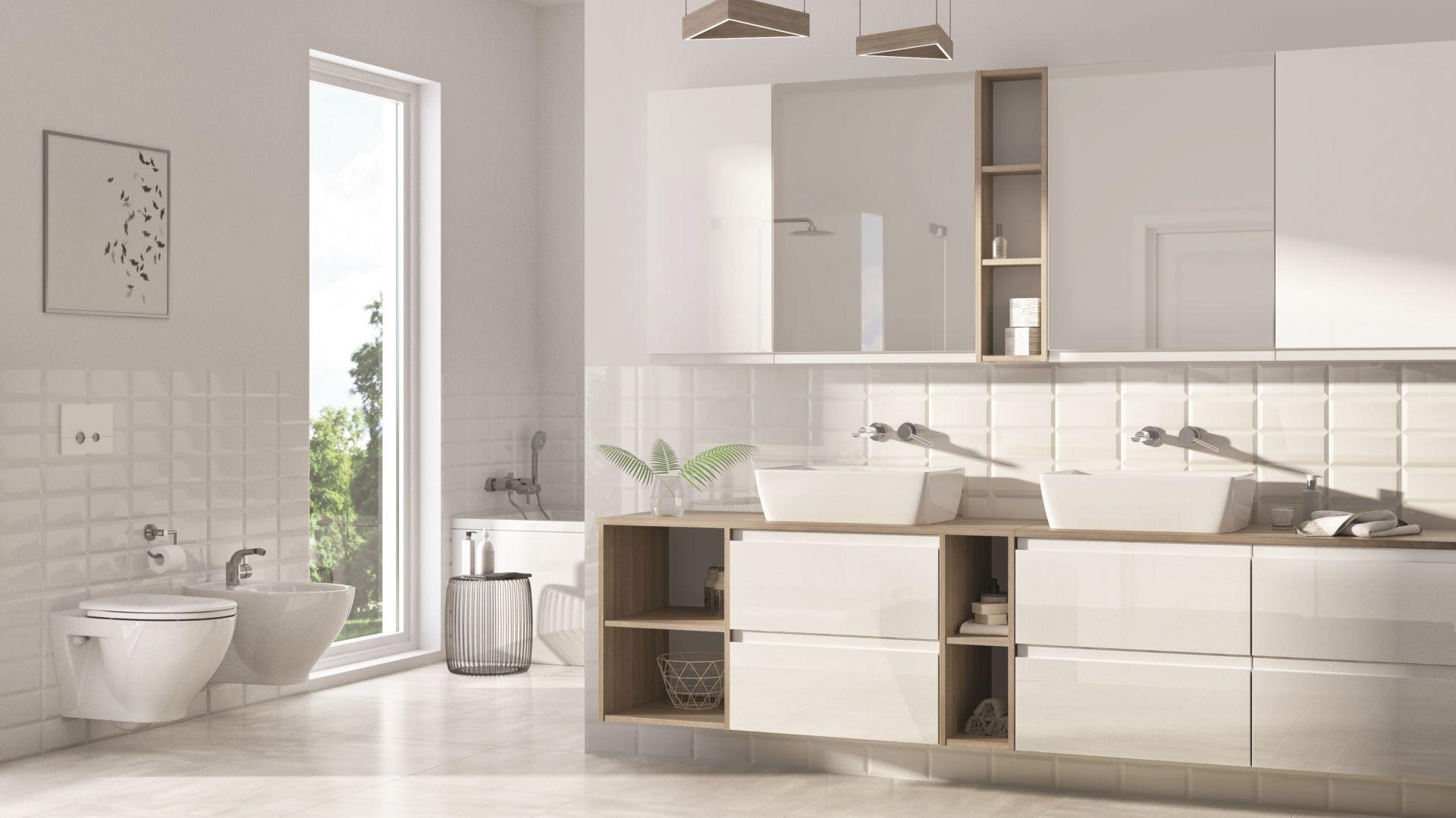Miska w.c. Moduo o owalnym kształcie oferowana w technologii CleanOn wyróżnia się nowoczesnym designem oraz wyjątkową bielą Cersanit White. Fot. Cersanit