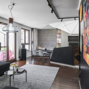 Apartament w Gdyni: piękne, artystyczne wnętrze. Projekt: Pracownia Magma. Fot. FotoMohito