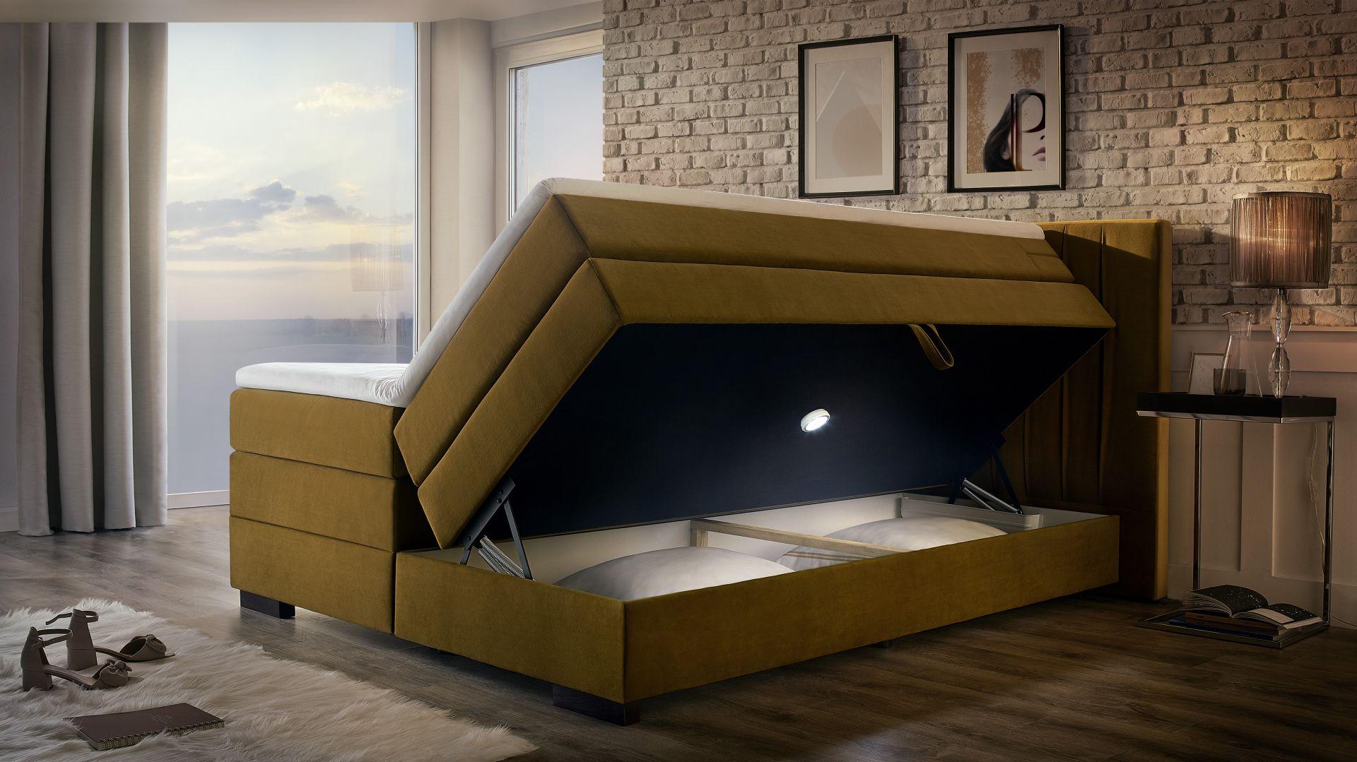 Kolekcja łóżek tapicerowanych Palermo/Emilia Meble. Produkt zgłoszony do konkursu Dobry Design 2020.