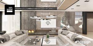 Aranżacja salonu. Projekt i wizualizacje: ARTDESIGN biuro projektowe