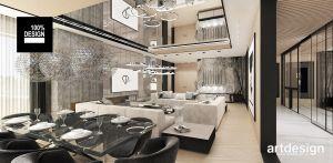 Salon w nowoczesnym domu. Projekt i wizualizacje: ARTDESIGN biuro projektowe