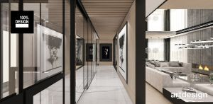 Wnętrze nowoczesnego domu. Projekt i wizualizacje: ARTDESIGN biuro projektowe