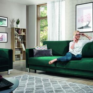 Sofa Modo z funkcją spania dostępna w ofercie firmy Wajnert Meble. Fot. Wajnert Meble